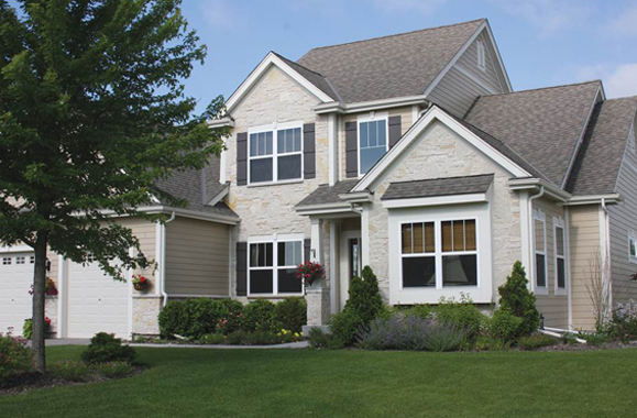 Residential Natural Stone : Residential natural exterior janesville brick