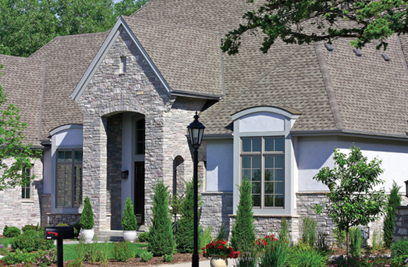Residential Natural Stone : Residential natural exteriorb janesville brick