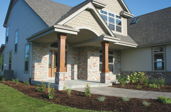 Residential Natural Stone : Residential natural exteriorc janesville brick