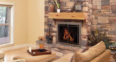 Glass Fireplace Doors - Janesville Brick